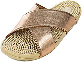 Japanese Massage/Reflexology Sandal by Kenkoh - Women's Kawaii Bronze Shoe - For Acupressure Therapy