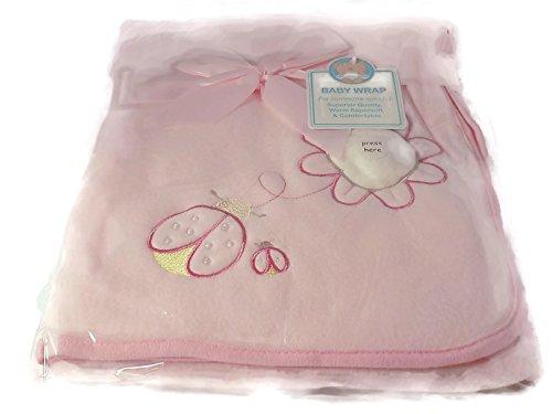 Porte-bébé/couverture rose à motif de fleurs — 887
