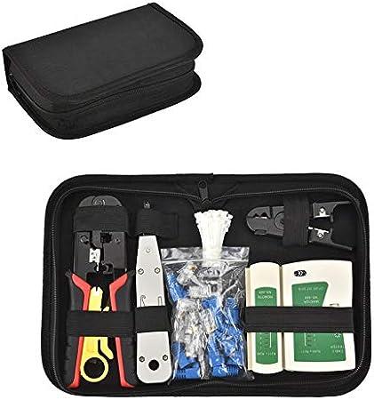 Kit de Herramientas para Redes Comprobador de Cable de Red RJ45 Network Tool Kits Red Profesional Mantenimiento de la Computadora Lan Cable Tester