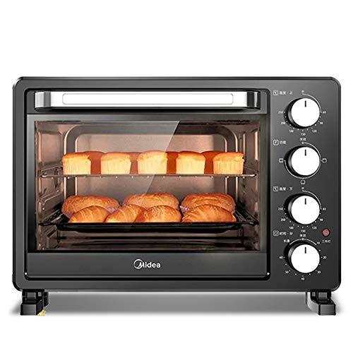 Mini four grille-pain 25L avec contrôle indépendant de la température des tubes supérieur et inférieur Conception de la position de cuisson à quatre couches Minuterie de 60 minutes Porte de pause à