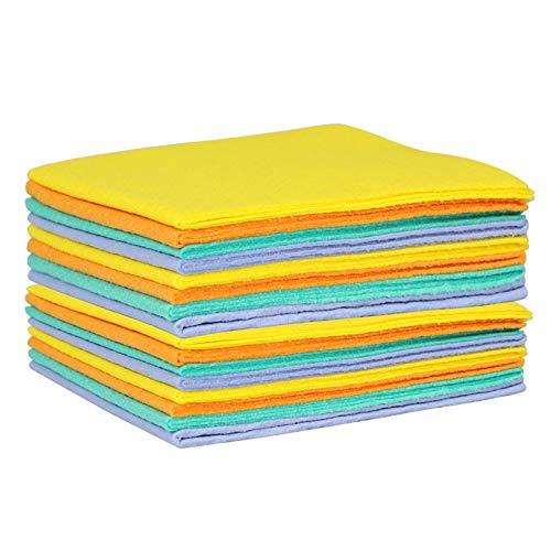 8 paños de Limpieza, Microfibra, Fuerte absorción y Resistencia a la abrasión, Reutilizables, sin Olor, utilizados para Cocina, Lavado de Coches, Limpieza de Suelos