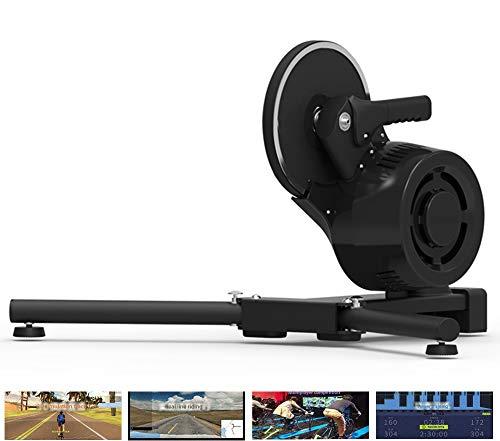 HBRT Smart Trainer, Bike Trainer Stand Realidad Virtual Simulación de Pendiente Real Road Feel Support Multijugador Montar en línea Competencia