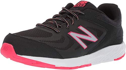 New Balance Kid's 519 V1 Running Shoe, Black/Rainbow, 5 XW US Big Kid