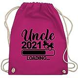 Shirtracer Bruder und Onkel Geschenk - Uncle 2021 loading mit Schnullern - schwarz - Unisize - Fuchsia - WM110 - WM110 - Turnbeutel und Stoffbeutel aus Baumwolle