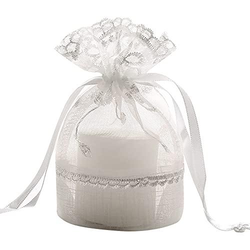 Mnrkaoic Sachets Pochettes Cadeau en Organza 10*14cm Sacs Organza avec Cordon de Serrage pour Cadeaux de Noël, Bonbons, Bijoux 6 PCS
