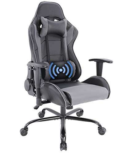 Gaming Chair Racing Style Ergonomic High Back Computer Chair with Height Adjustment, Headrest and Lumbar Support