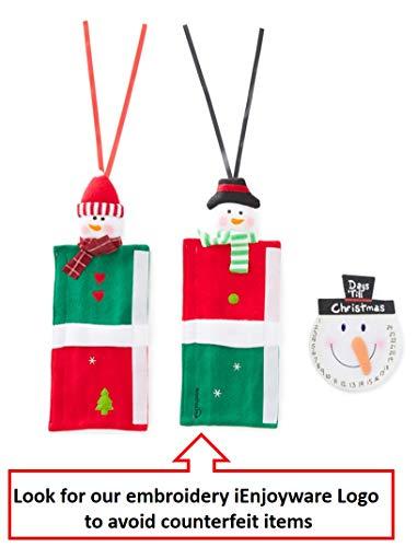 Snowman Kitchen Appliance Handle Covers - Set of 3 - Christmas Decoration Idea