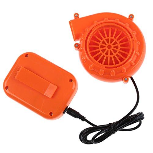 ACAMPTAR Ventilator Geblaese Fuer MascotHead Aufblasbares Kostuem 6V Angetrieben 4 x AA Trockene Batterie Orange