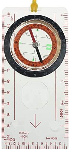 PGKCCNT Camping al Aire Libre Direccional Direccional Cruz-CAUSIÓN Senderismo Special Compass Base Placa Ruler Mapa Scale Compass Night Bussola