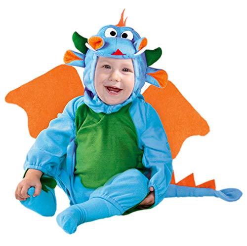 Baby Drache - Kostüm für Kinder Gr. 86-98, Größe:92/98