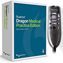 Nuance Dragon Medical Practice Edition 4 with Powermic III for Windows (Microphone with 9..