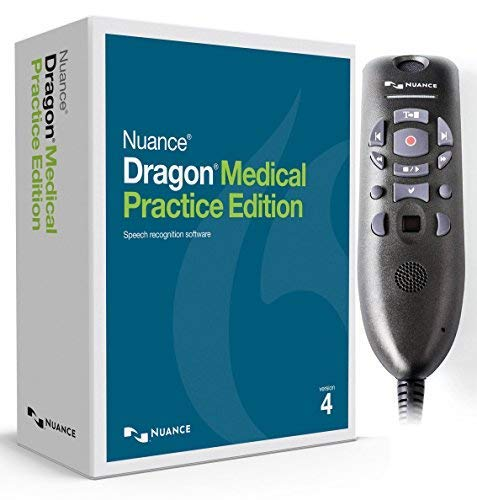 Nuance Dragon Medical Practice Edition 4 with Powermic III for Windows (Microphone with 9 Foot Cable)