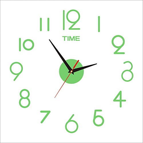 ZBCLOCKGZ Acryl Silent 3D DIY Dekorative Wanduhr Acryl 3D Große Kreative Wanduhr Art Clock Mute Clock Digitale DIY Wanduhr