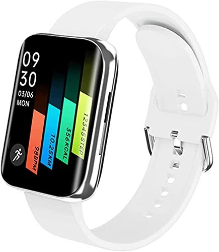 ALXLX Pulsera Inteligente De 1.78 Pulgadas, Pantalla Curvada Presión Arterial Rate Fitness Tracker Sports HD Touch Screen Smart Watch para Android iOS S216, A