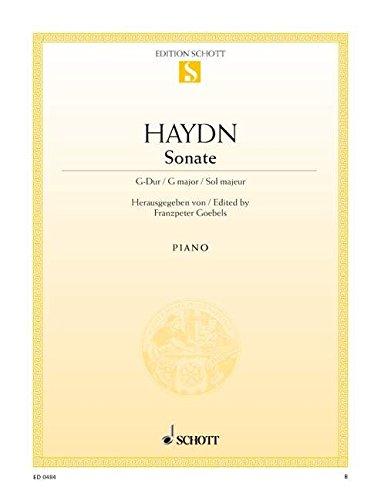 Sonate G-Dur: nach dem Urtext. Hob. XVI:27. Klavier. (Edition Schott Einzelausgabe)