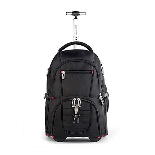 Aiyoudemutou Wheeled Backpack - Imbottito Regolabile Posteriore Cinghie e trasportano la Maniglia for Ragazzi e Ragazze Scuola Laptop Bag Libri for Ragazzi Ragazze e Studenti