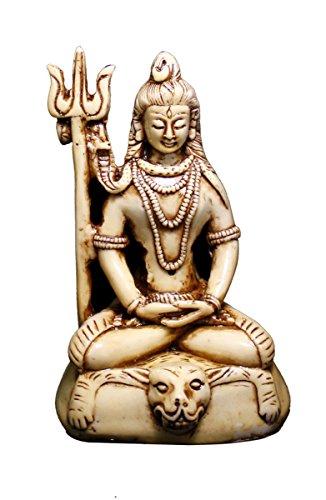Increíble India Online - Figura de resina para meditar Dios Shiva (5 pulgadas)