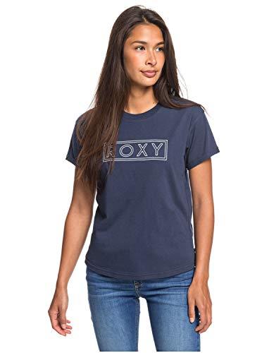 Roxy Epic Afternoon T Camiseta de Mangas Cortas Enrolladas, Mujer, Azul (Mood Indigo bsp0), M