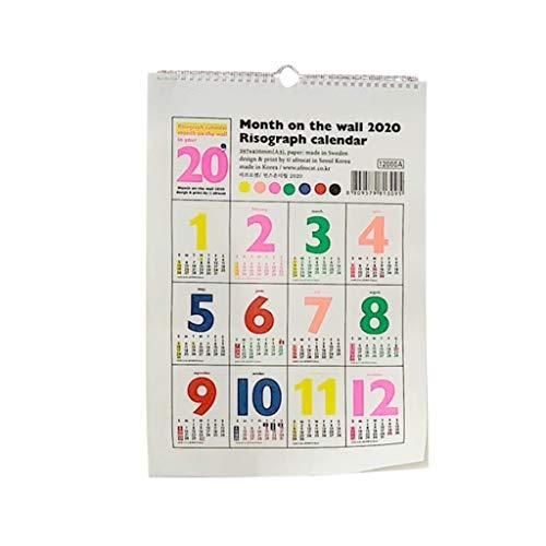 ZANZAN Calendario mensual 2021 Calendario De Calendario De Pared De Calendario con Fechas Julianas Encuadernación De Cables Gemelos, Decoraciones