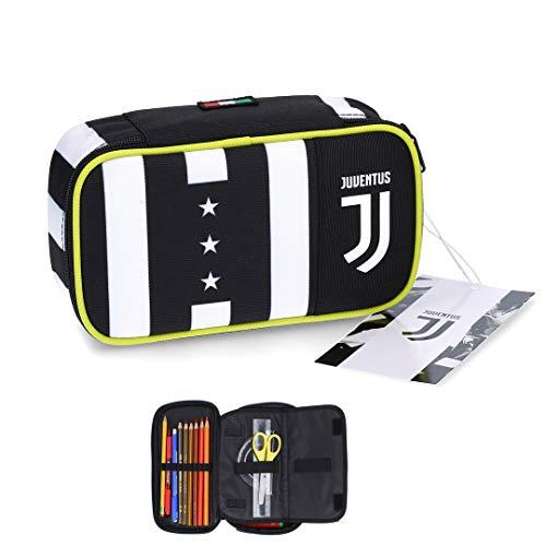 Juventus Astuccio Quick Case - Collezione Scuola 2020/2021 - Completo di Cancelleria - 100% Originale - 100% Prodotto Ufficiale