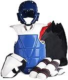 Niños Taekwondo Equipo de protección Resistente a la corrosión Impermeable Sparring Body Body Set Blue-S