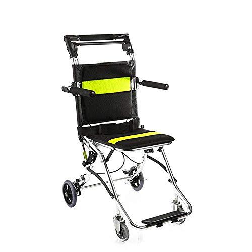 CTO Tragbarer Rollstuhl Rollstuhl Mini, Ergonomische Leichtklapp Transport Medical Nylon atmungsaktiv