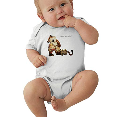 DFHSDD Thin Black Jumpsuits for Baby Boy and Baby Girl Calvin and Hobbes Friends Forever Onesies
