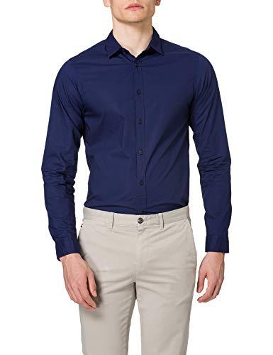 Scotch & Soda män normal passform – tröja med tonal brösttryck skjorta