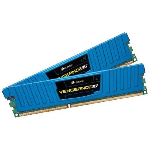 Corsair Vengeance Low Profile - Módulo de Memoria XMP de Alto Rendimiento de 16 GB (2 x 8 GB, DDR3, 1600 MHz, CL10), Azul (CML16GX3M2A1600C10B)