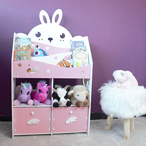 HomeZone® Wooden White & Pink Ra...