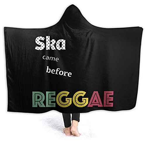 Manta con capucha para adultos Ska Vino antes de Reggae Mantas para mujeres y hombres, manta de franela de invierno suave para el hogar, sofá, dormitorio, ropa de cama