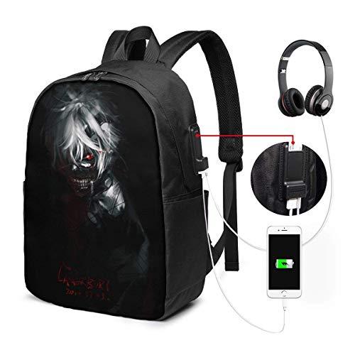 AnimeTokyo Ghoul 17 'Bookbag Daypack Laptoptasche Rucksack Schultasche mit Ladeanschluss