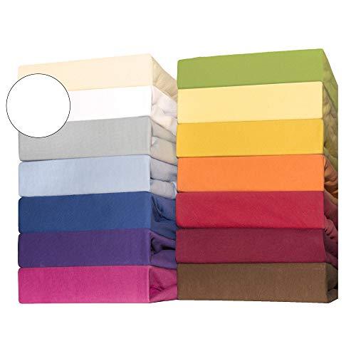 CelinaTex Lucina for Kids Kleinkinder Spannbettlaken Doppelpack 60x120 - 70x140 cm schnee weiß Baumwolle Spannbetttuch