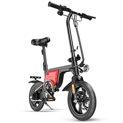 Dpliu-HW Elektrofahrräder Elektrofahrrad Lithium Batterie Faltbare Elektroauto Lange Lebensdauer Erwachsene Batterie Auto Kleine Mini Reise Generation Fahren Smart Fahrrad 12 Zoll