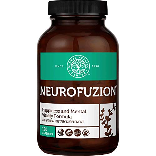 Global Healing NeuroFuzion - Vegan Supplement Helps Supports Natural Mood, Normal Brain Function and Healthy Stress & Anxiety Response - Helps Mental Clarity, Focus & Concentration - 120 Capsules