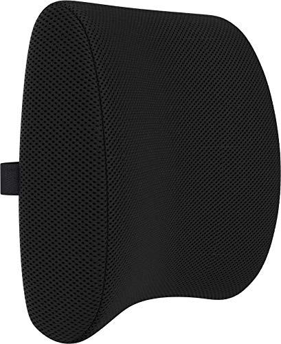 Bonmedico Cojin Lumbar - Respaldo Lumbar para Silla Ergonómico de Espuma de Memoria, Se Ajusta a su Espalda y es Ideal para Silla de Oficina y para el Coche, Negro