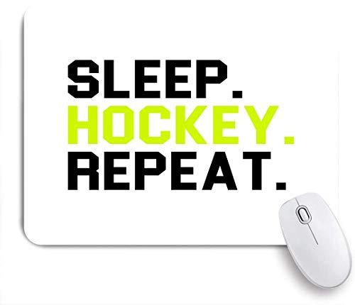 SUHOM Gaming Mouse Pad Rutschfeste Gummibasis,Eat Sleep Hockey Wiederholen Sie den Eishockey Sport Team Club,für Computer Laptop Office Desk,240 x 200mm