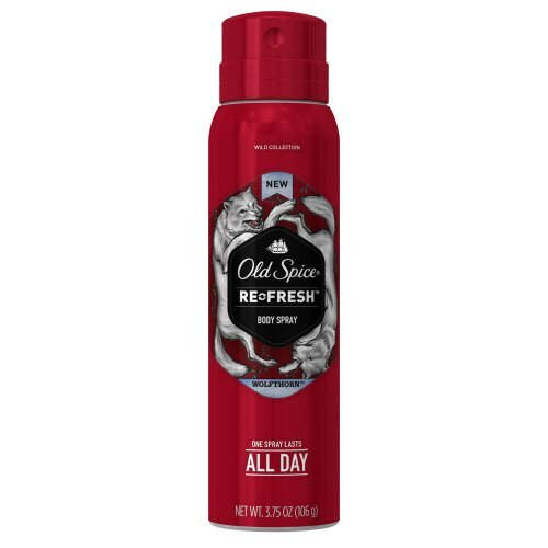 Old Spice Wild Collection Wolfthorn Men's Body Spray, 3.75 oz - Buy Packs and SAVE (Pack of 6)