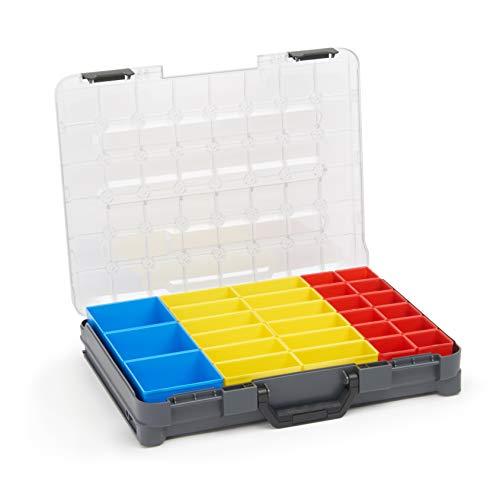 Kleinteile Aufbewahrung Koffer | Bosch Sortimo T-BOXX inkl. Insetbox T1 | Idealer Sortimentskasten Schrauben | Schrauben Sortierkasten tragbar