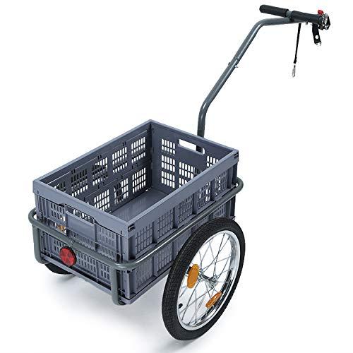 IKAYAA Rimorchio per Bicicletta, Rimorchio Bici Pieghevole, Carrello per Bici Multifunzioni, Passeggino per Bambini di Grande capacità Carro per Animali Carro All'Aperto