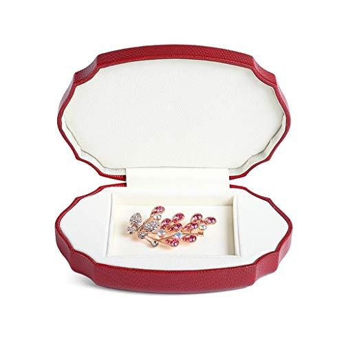 Joyería Caja de Almacenamiento de Collar Caja de Almacenamiento Cuero de PU Caja de Accesorios Soporte de exhibición Multifuncional (Color : Ring Box*2, Size : 15 * 10.5cm)