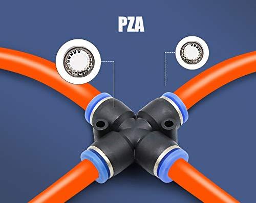 Conector de articulación neumático Tubos Racores de agua y tubo de empuje directo Conectores 4 a 16 mm de plástico manguera acoplamientos rápidos Se utiliza para conectar rápidamente tuberías de a