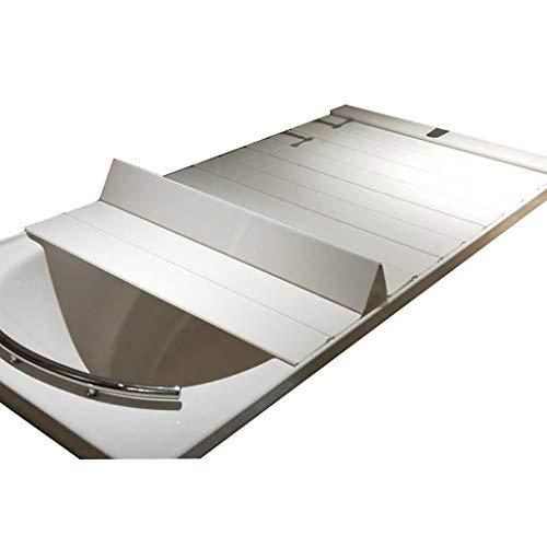 Badewannenabdeckung Anti-Staub Falten Staubplatte Badewanne Isolierabdeckung PVC weiß (größe : 175 * 75 * 0.6CM)