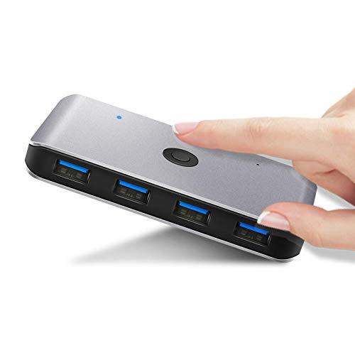 Hub USB2 Computers 6 Ports USB 3.0 Hub USB USB KVI Switcher Box Adapter Converter for Keyboard Mouse Printer Ultra Slim Portable