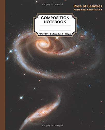 """Composition Notebook: Rose of Galaxies: College Ruled Journal for Adults, Students, Teachers, Astronomy & Science Lovers, 7.5"""" x 9.25"""", 120 pages, Hubble Space Telescope Photo (Deep Space Astronomy)"""