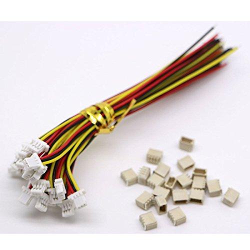 10 Sets Mini Micro Sh 1,0 Jst 3 Pin-Stecker-Stecker männlich mit 100 mm Kabel & Female