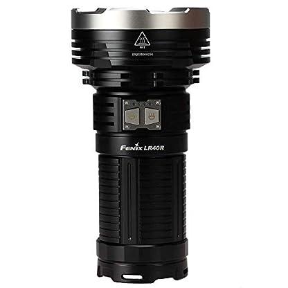 fenix LR40R Rechargeable 12000 Lumen Search Torch, Black, 3