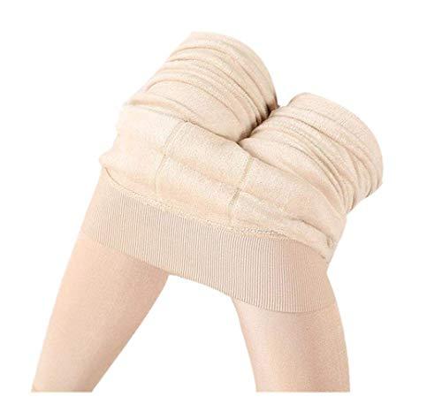 Thermo FeinstrüMpfe Damen Strickleggings Baumwollstrumpfhosen Elegante Lang Jumpsuits Fleece GefüTtert Stretch Leggings Hosen Rainbow Strumpfhosen Weihnachts Samt Homewear Hosen