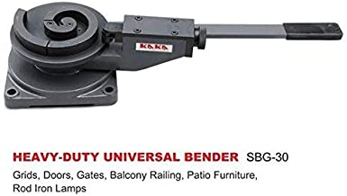 KAKA Industrial SBG-30 Universal Bender, High Precision Metal Bender for Steel, Brass, Copper and aluminum, Cast-Iron Steel Frame Scroll Bender with 3