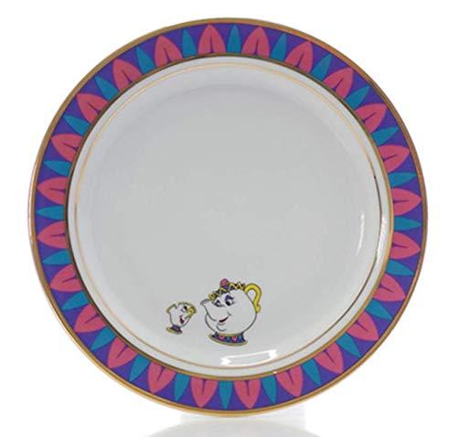 qnmbdgm Plate Keramische Cartoon Salade Koffie Cake Fruit Keramische Voedselplaat Schoonheid En Het Beest Mevrouw Potten Chip Theepot Cup Creatieve Dinnerware Kerstcadeaus